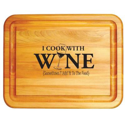 Wooden Branded Wine Board with Groove