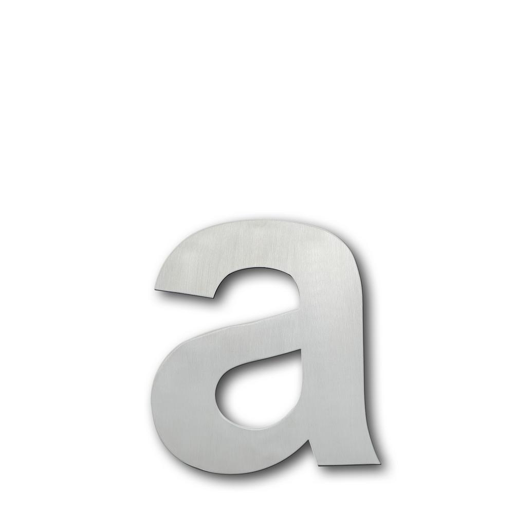 Brushed stainless steel floating modern house letter a