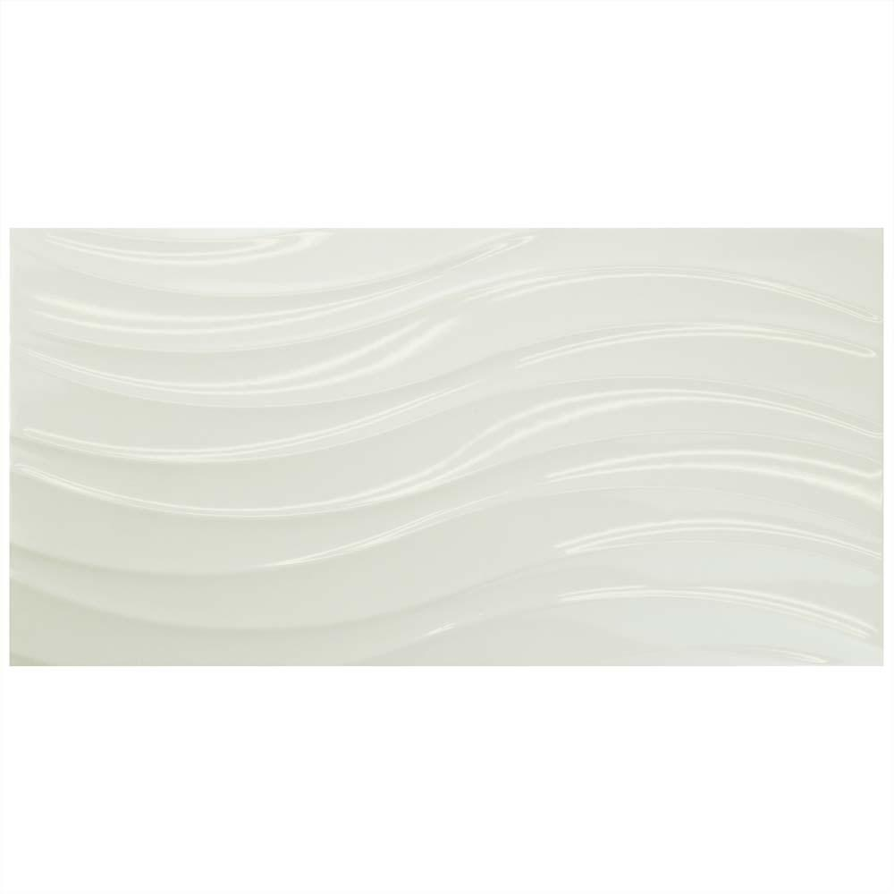 Merola Tile Silueta Blanco Brillo 12-3/8 in. x 24-7/8 in. Ceramic Wall Tile (15.4 sq. ft. / case)