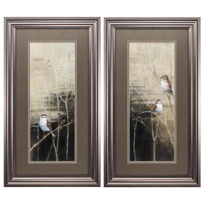 "27 in. x 15 in. "" Sparrows Dusk PK/2"" Framed Wall Art"