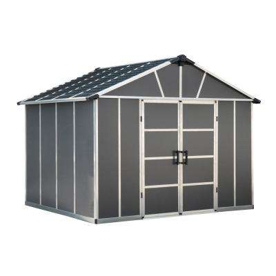 Yukon 11 ft. W x 9 ft. D x 8.3 ft. H Dark Gray Storage Shed