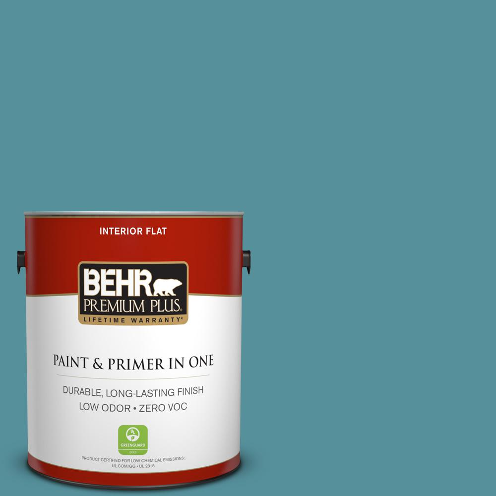 BEHR Premium Plus 1-gal. #520F-5 Harbor Zero VOC Flat Interior Paint