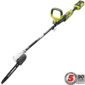 Ryobi 40-Volt X Lithium-Ion Cordless Attachment Capable 10 inch Pole Saw - 2.6 Ah Battery and Charger Included by Ryobi