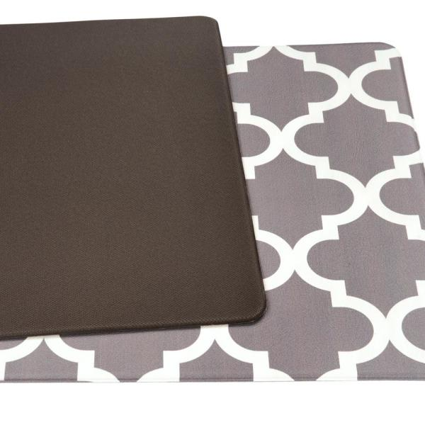 World Rug Gallery Moroccan 18 In X 47 In Gray Anti Fatigue Mat 852gray18x47 The Home Depot