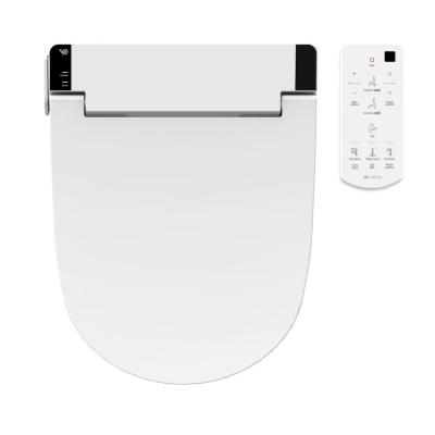 WATERJET Electric Bidet Seat for Round Toilet in White with Remote Control