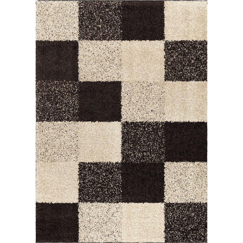 null Faegen Black 3 ft. 11 in. x 5 ft. 5 in. Indoor Area Rug