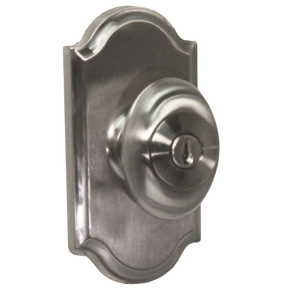 Weslock Elegance Satin Nickel Premiere Keyed Entry Julienne Knob