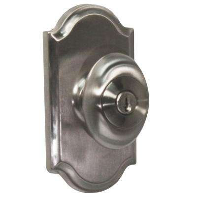 Elegance Satin Nickel Premiere Keyed Entry Julienne Knob