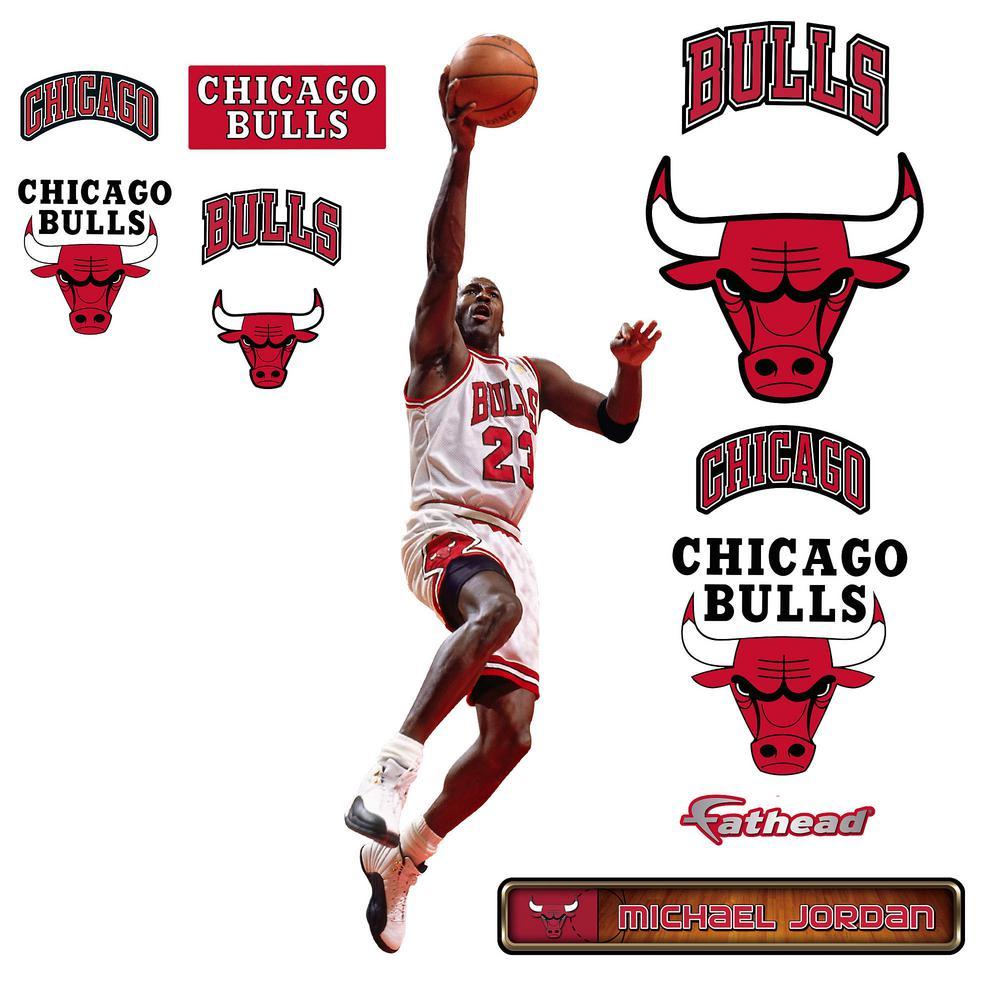 41 in. H x 17 in. W Michael Jordan Layup - Fathead Jr Wall Mural
