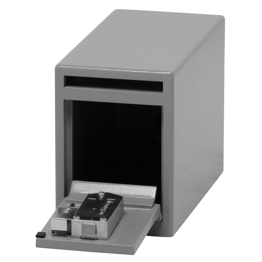 0.25 cu. ft. Depository Safe Under Counter Key Lock Drop Slot Safe