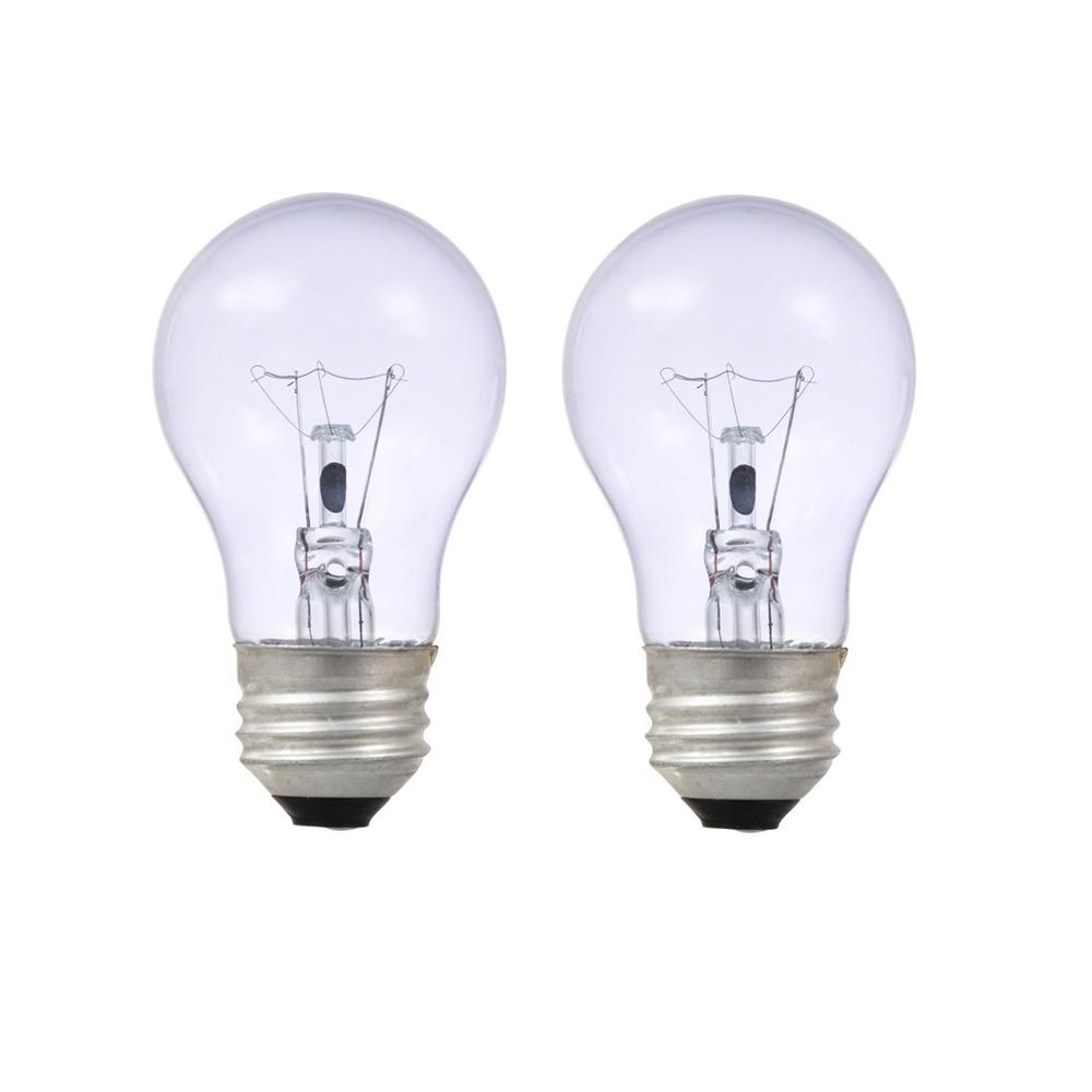 Sylvania 40-Watt A15 Clarity Incandescent Light Bulb (2-Pack)