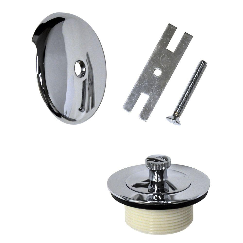 danco lift and turn bath drain trim kit in chrome 88966 the home depot