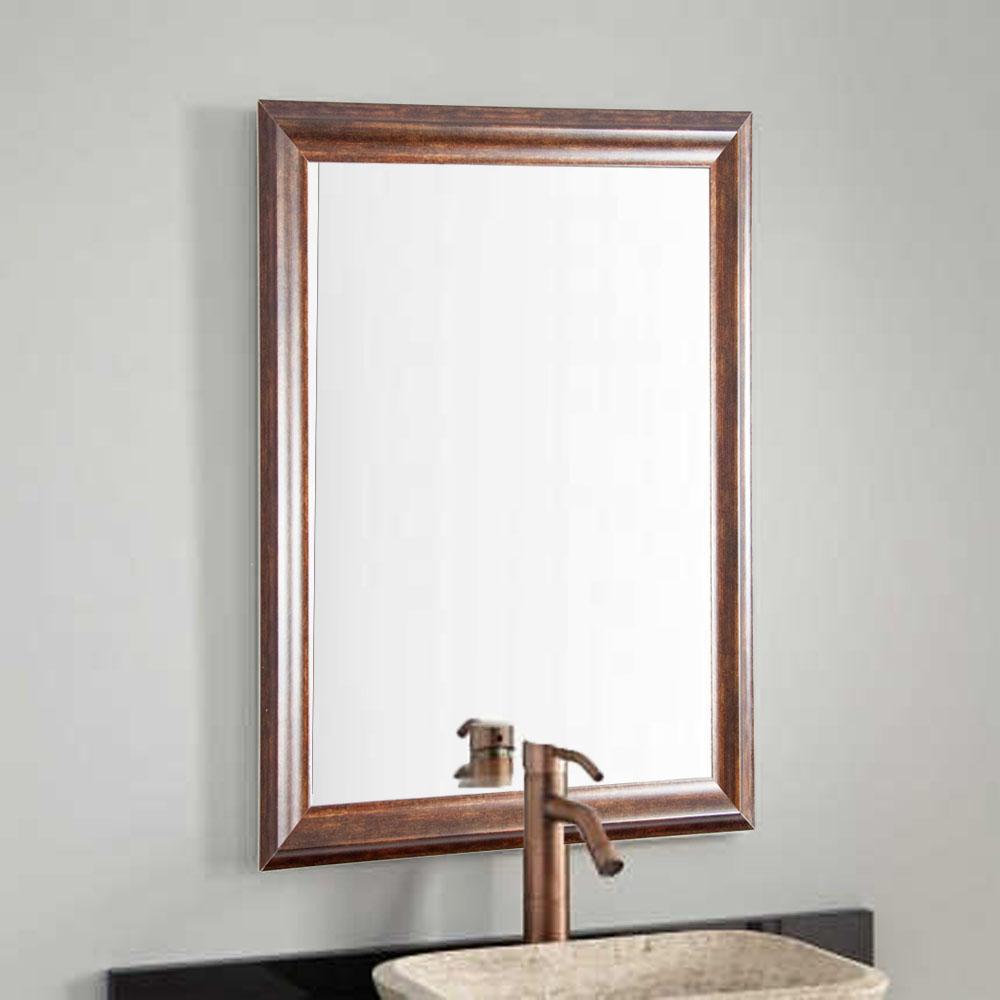 Classic Wood Grain Decorative Wall Mirror