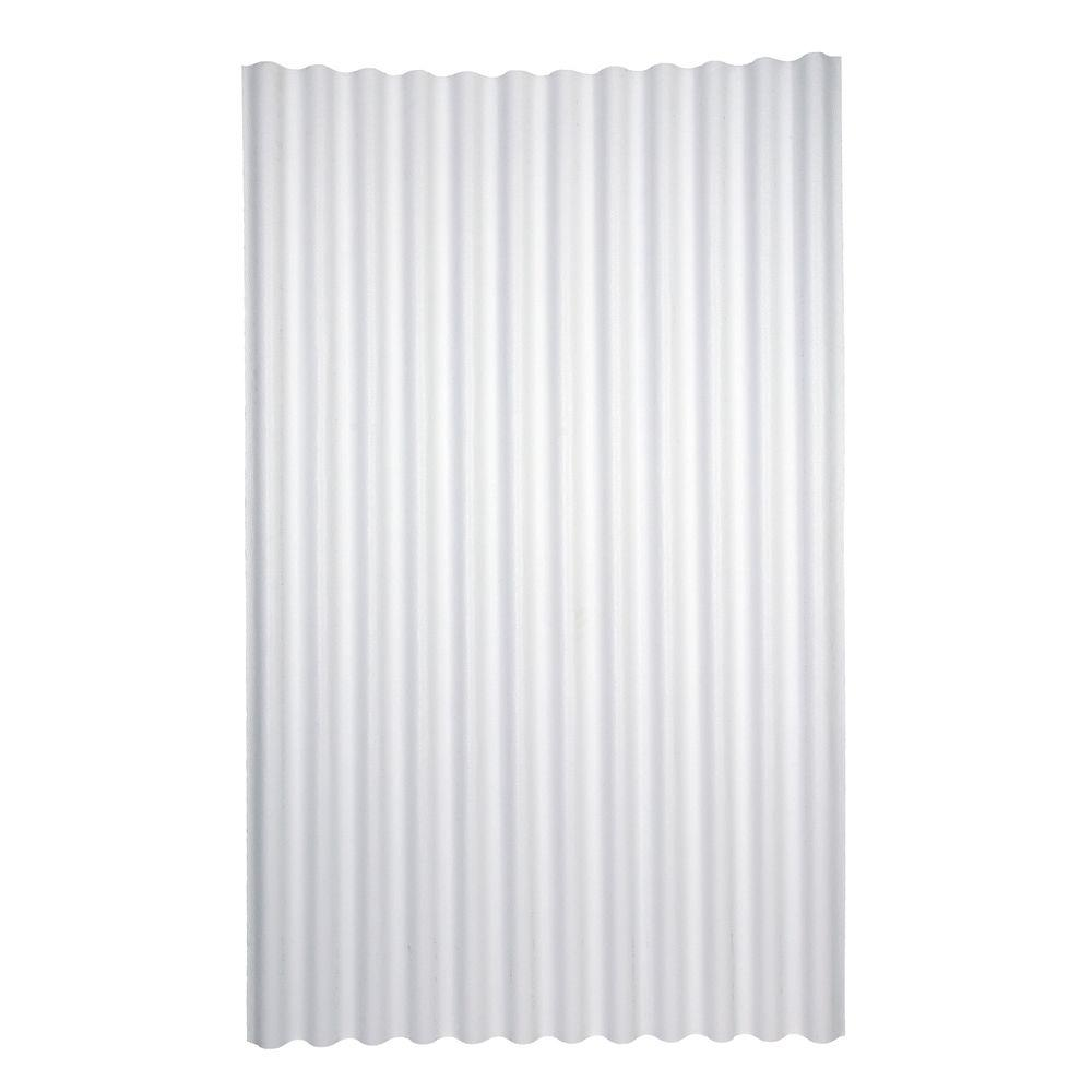 Ondura 6 Ft 7 In X 4 Ft Asphalt Corrugated Roof Panel In White 157 The Home Depot