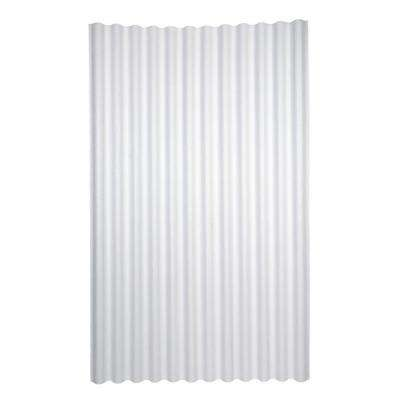 6 ft. 7 in. x 4 ft. Asphalt Corrugated Roof Panel in White
