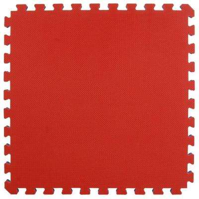 Home MMA BJJ Red/Blue 24 in. x 24 in. x 1-5/8 in. Foam Interlocking Floor Tile (Case of 10)