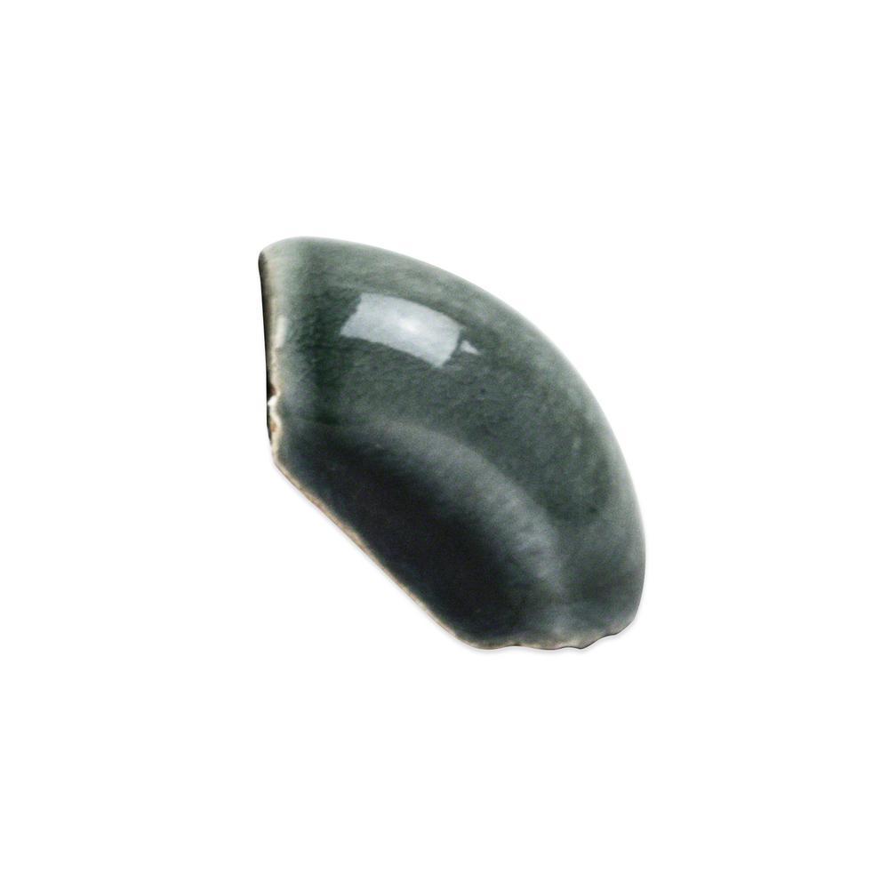 Delphi Deep Emerald 1.5 in. x 1 in. Polished Ceramic Pencil Corner Tile