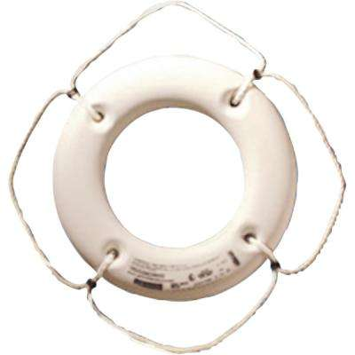 20 in. Hard Shell Life Ring in White