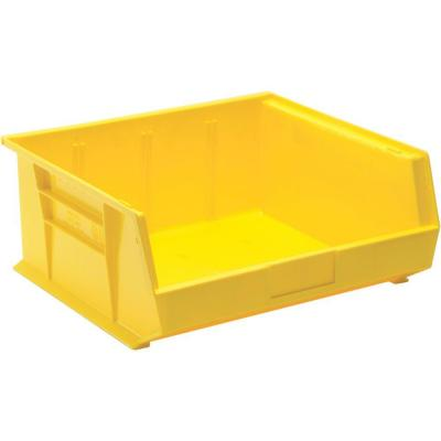 6.8-Gal. Stackable Plastic Storage Bin in Yellow (6-Pack)