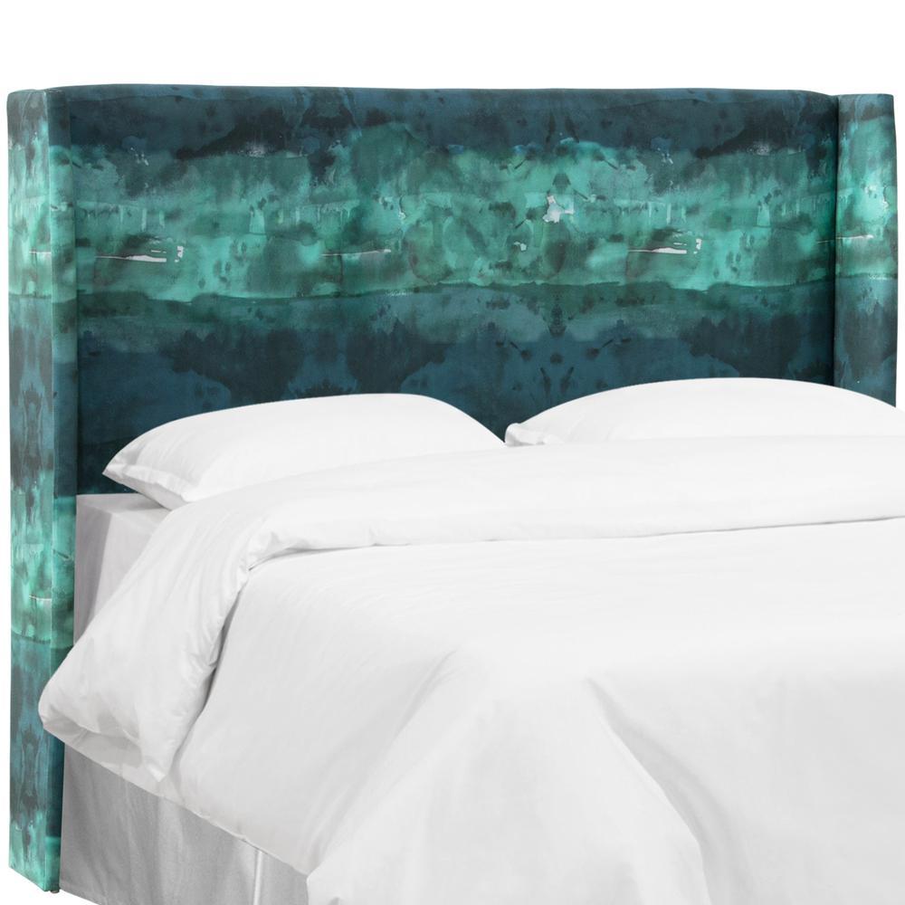 Leather King Bedroom Sets Teal And Black Bedroom Bedroom Furniture Modern Bedroom Decorating Ideas Grey: Skyline Furniture Watercolor Block Teal California King