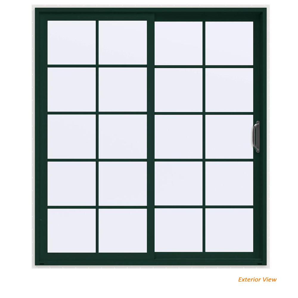 72 in. x 80 in. V-4500 Contemporary Green Painted Vinyl Right-Hand