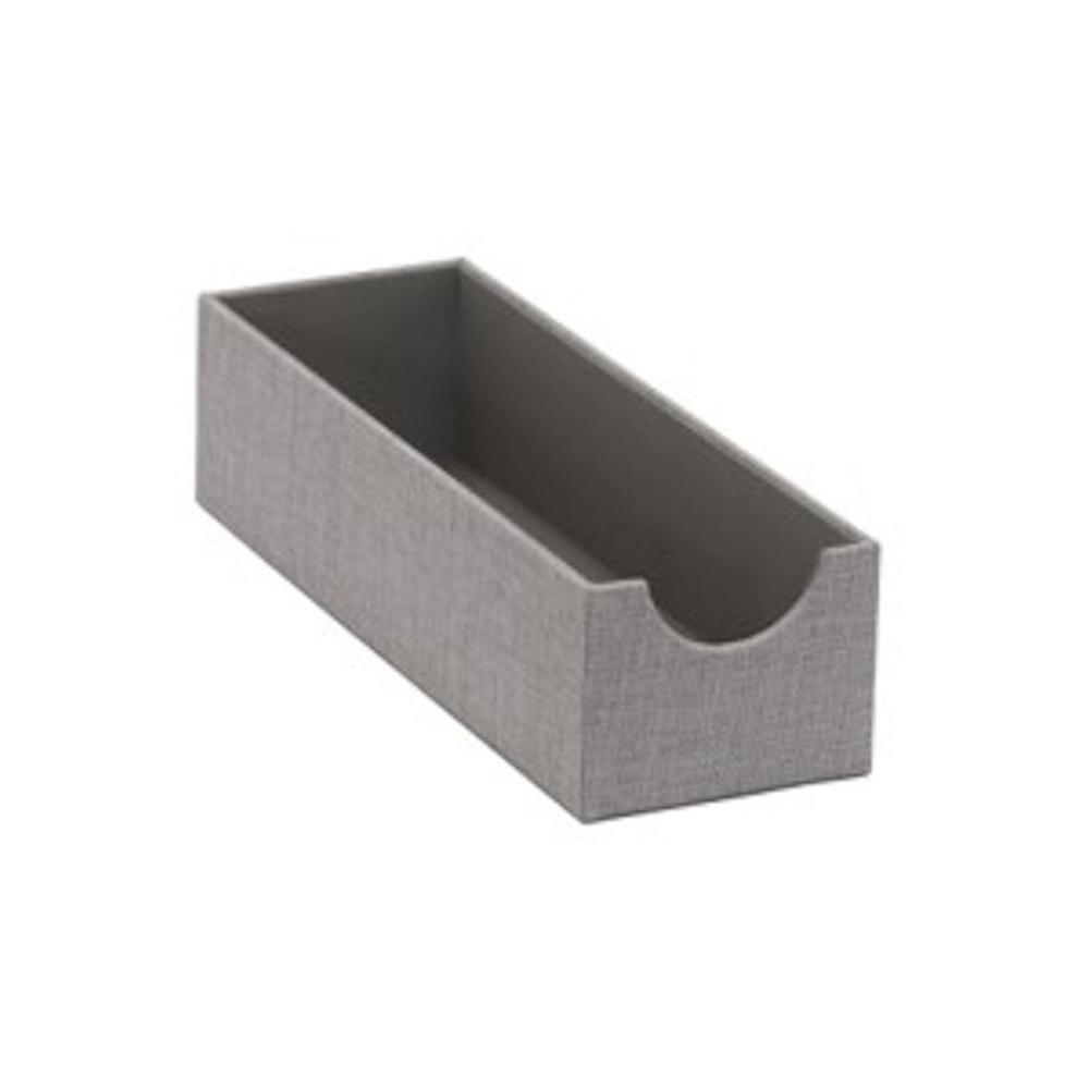 4 in. x 3 in. Oblong Hardsided Tray in Silver