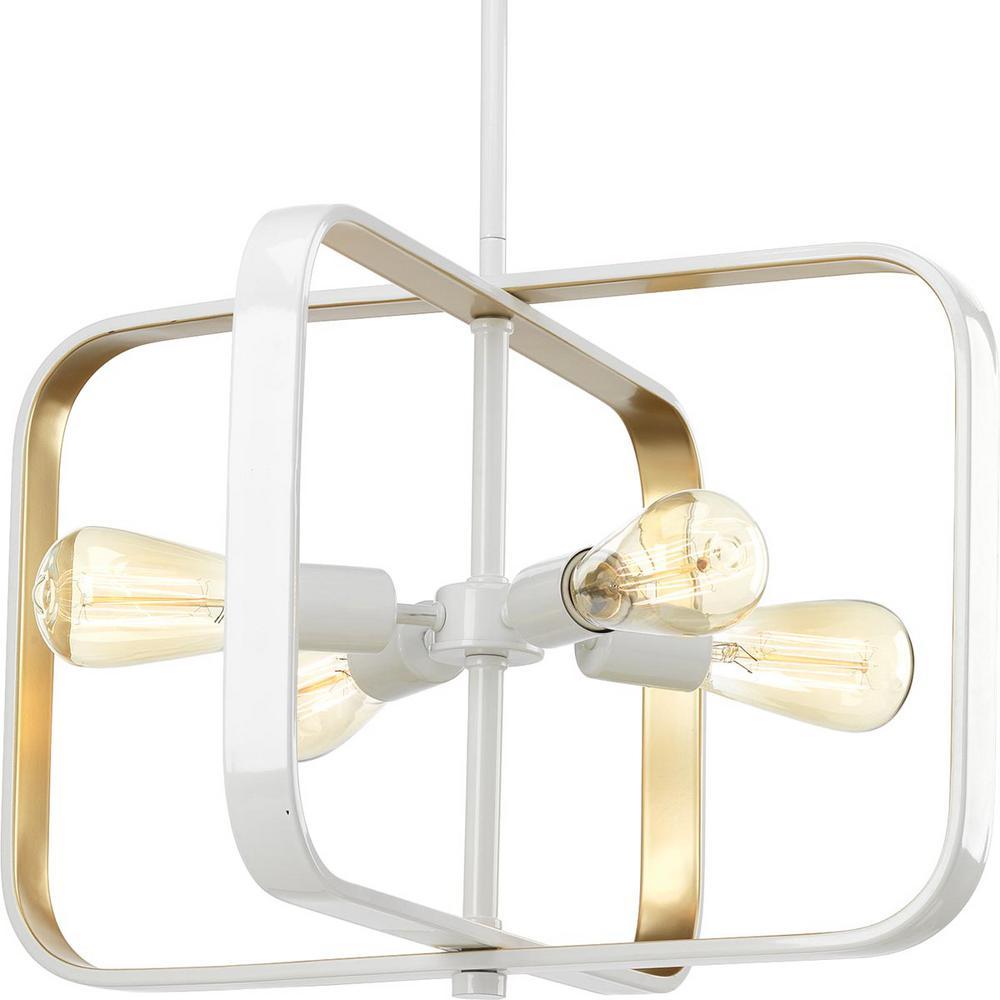 Progress Lighting Centre Collection 4-Light White Pendant-P500111 ...