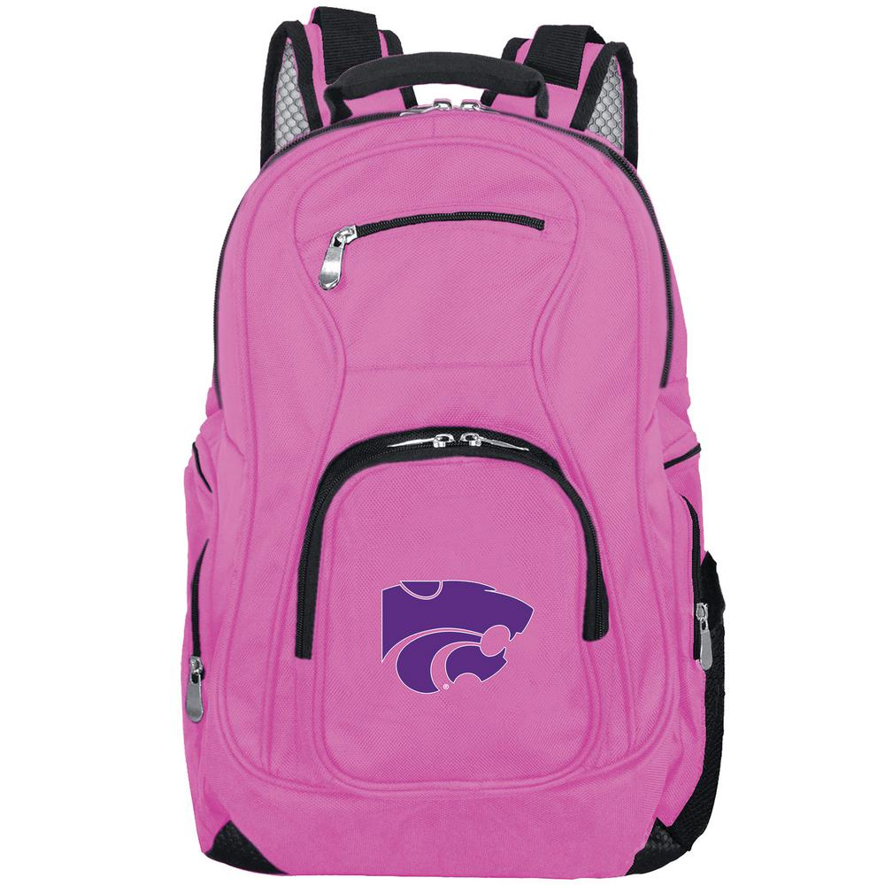 NCAA Kansas State Wildcats 19 in. Pink Backpack Laptop