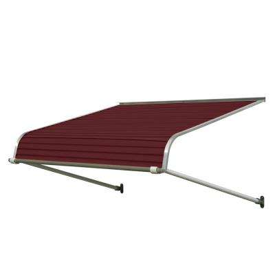 4 ft. 1100 Series Door Canopy Aluminum Awning (12 in. H x 42 in. D) in Burgundy
