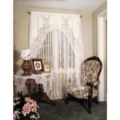 Heirloom Ecru Lace Curtain 60 in. W 84 in. L