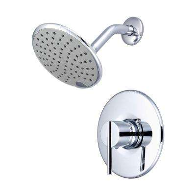 i2v 1-Handle Wall Mount Shower Trim Kit in Polished Chrome with Rain Showerhead (Valve Not Included)