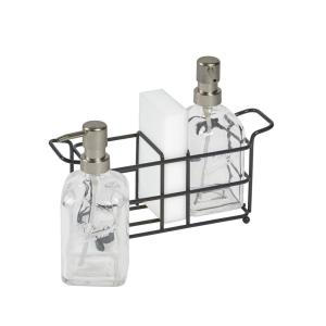 Deals on Mason Craft and More 4-Piece Glass Soap Pump and Caddy Set