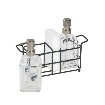 4-Piece Glass Soap Pump and Caddy Set