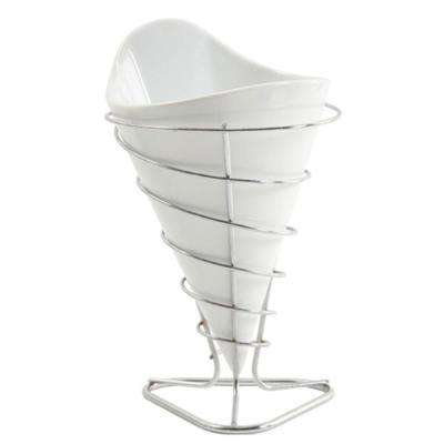 Gracious Dining White Porcelain French Fry Bucket