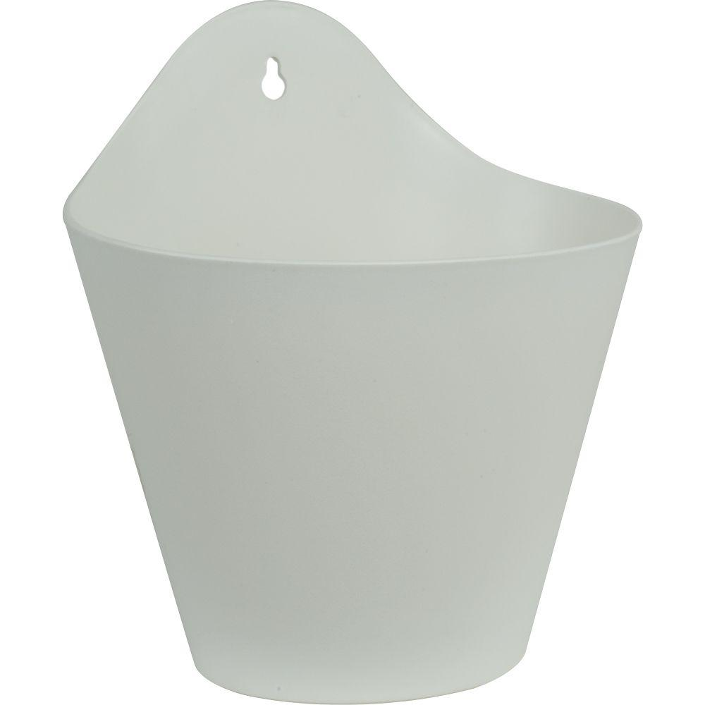 Pride Garden Products Mela 8 1 2 In White Plastic Wall Planter