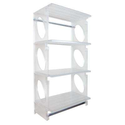 Urban Elite 48 in. H x 25.5 in. W x 14 in. D Closet Shelving Kit in Frost