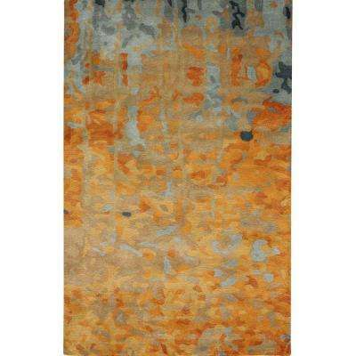 Watercolor Gold 8 ft. x 11 ft. Area Rug