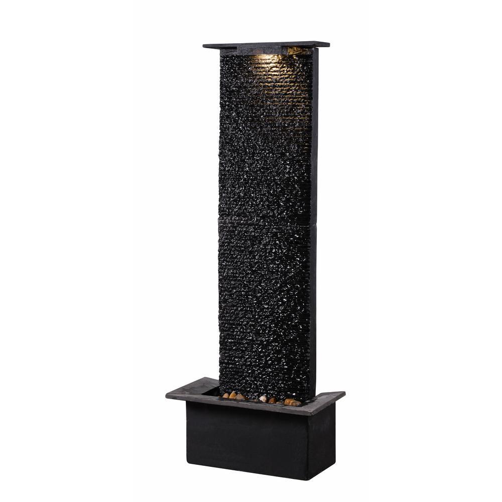 Alluvium Resin and Slate Floor Fountain