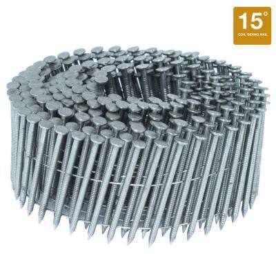 1.75 in. x 0.09 in. 15-Degree Ring Stainless Wire Coil Siding Nail 1,000 per Box
