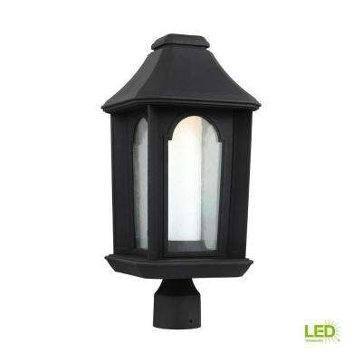 Ellerbee Outdoor 19.875 in. Textured Black LED Post Lantern