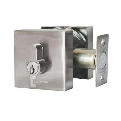 Guardian Single Cylinder Satin Nickel Finish Premium Deadbolt