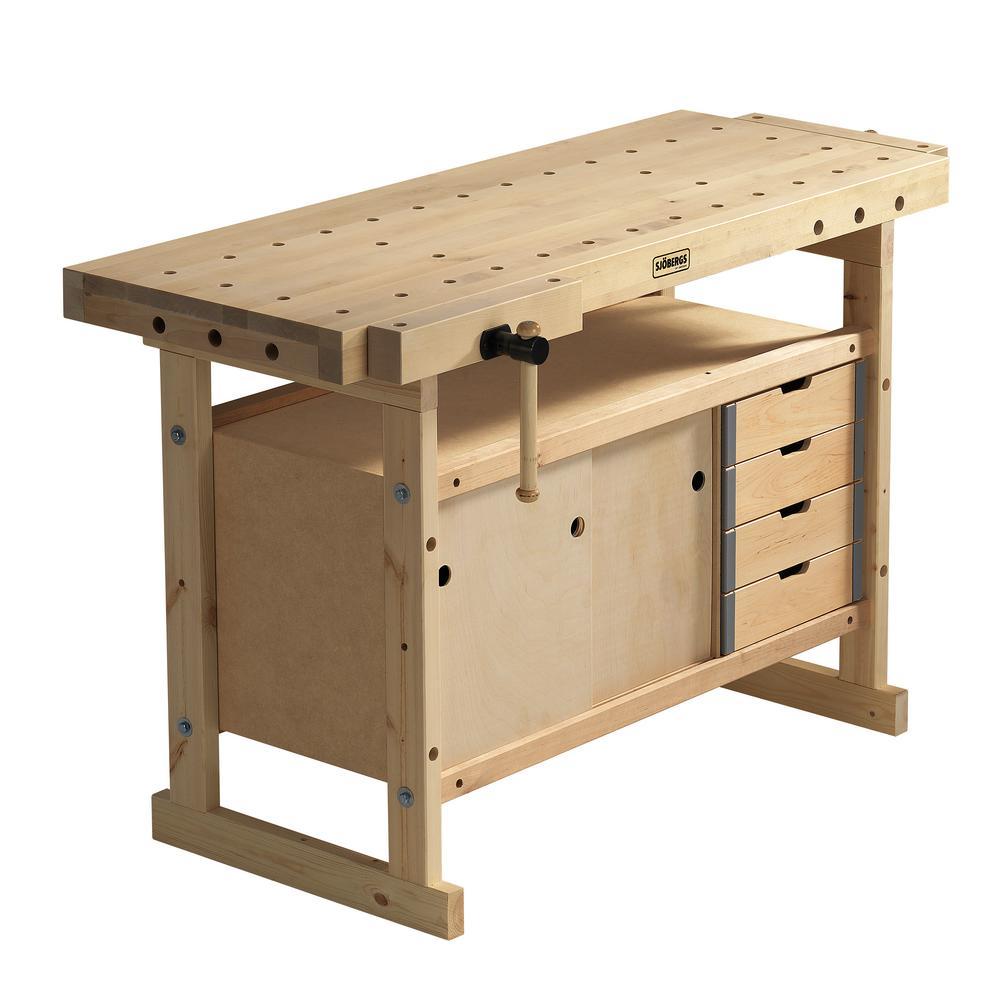Tremendous Sjobergs Nordic Plus 1450 4 Ft 9 In Workbench And Storage Cabinet And Accessory Kit Spiritservingveterans Wood Chair Design Ideas Spiritservingveteransorg