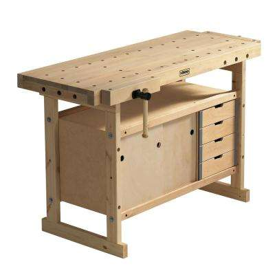 Nordic Plus 1450 4 ft. 9 in Workbench and Storage Cabinet and Accessory Kit