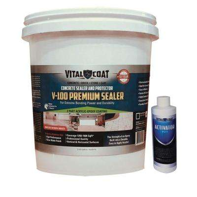 V-100 Premium 46 lb. Water Base Acrylic Epoxy Natural Clear Concrete Masonry and Stone Sealer
