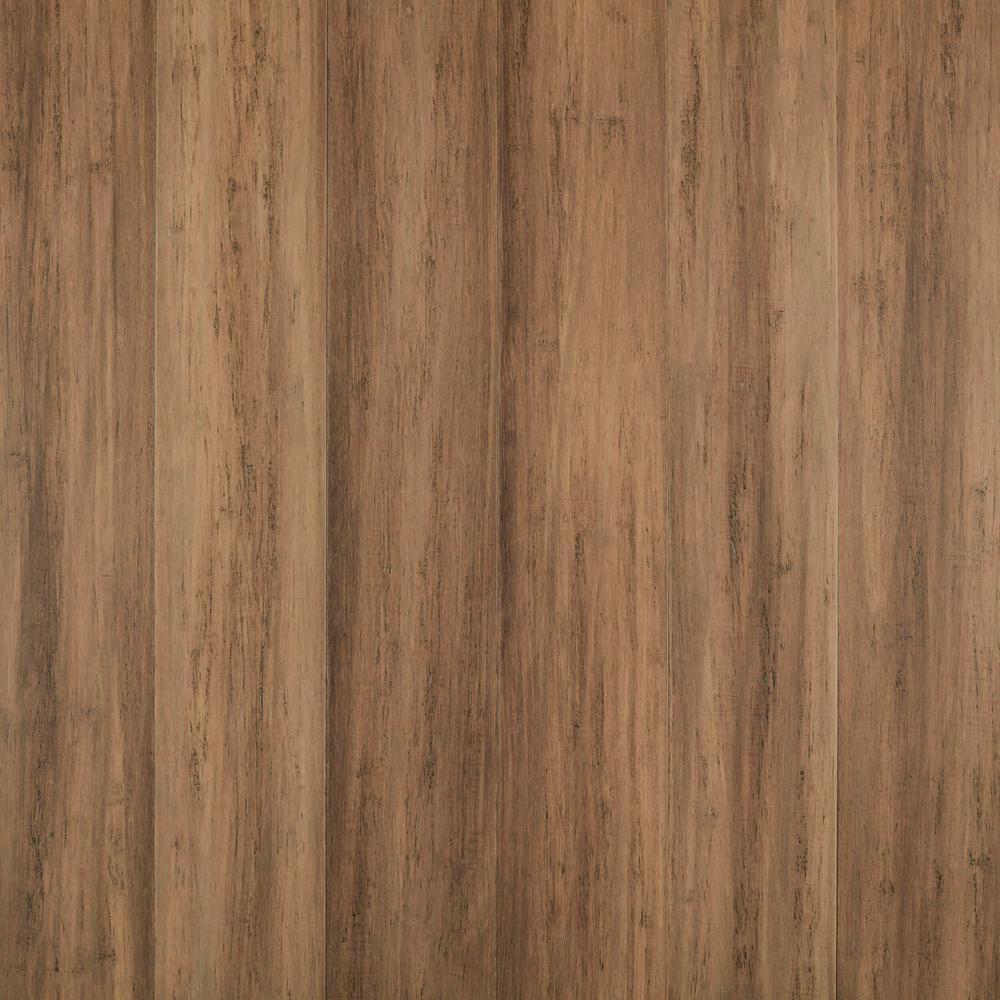 Hillside 7 mm T x 5.2 in. W x 36.22 in. L Waterproof Engineered Click Bamboo Flooring (15.45 sq. ft./case)