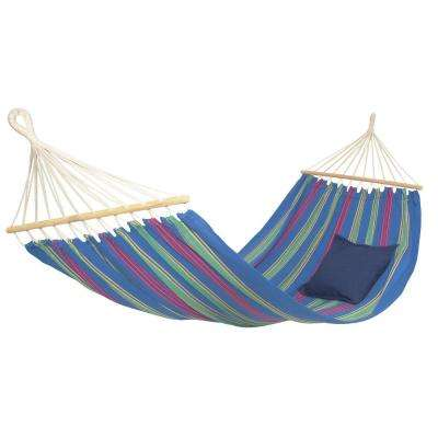 10 ft. 2 in. Poly/Cotton Hammock, Blue