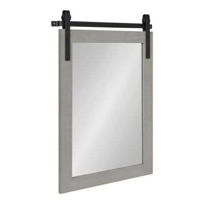Cates 24 in. x 18 in. Classic Rectangle Framed Gray Wall Mirror