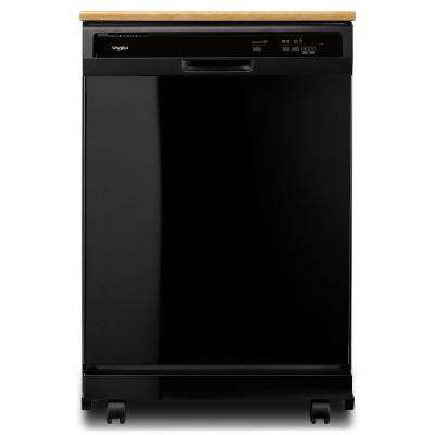 Heavy-Duty Portable Dishwasher in Black with 12 Place Settings Capacity
