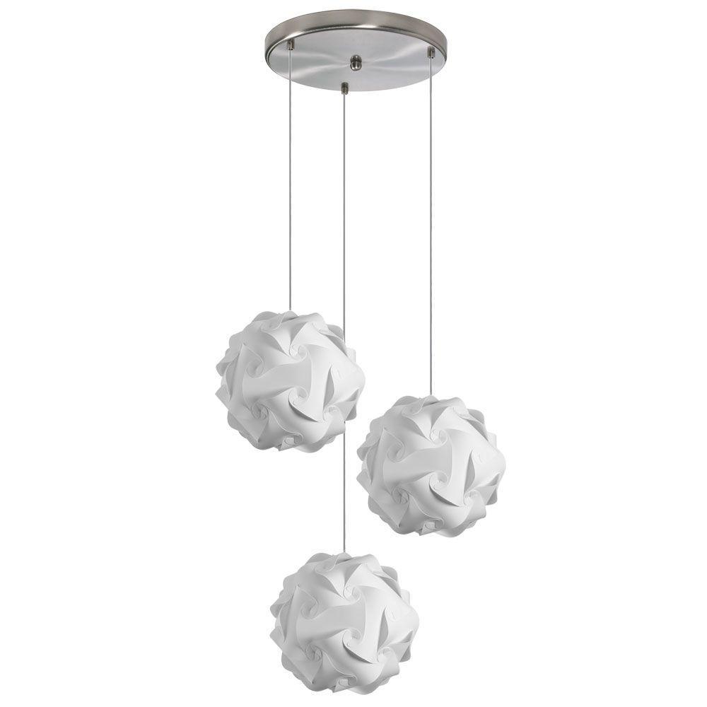 Filament Design Catherine 3-Light White Multi-Light Pendant