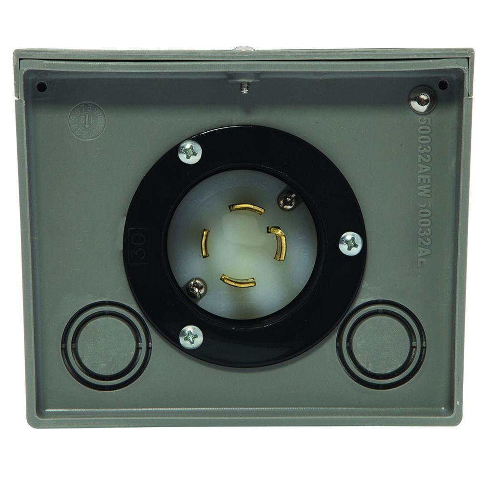30-Amp Raintight Power Inlet Box
